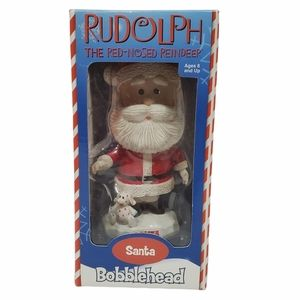 RUDOLPH THE RED NOSED REINDEER SANTA BOBBLE HEAD FIGURE